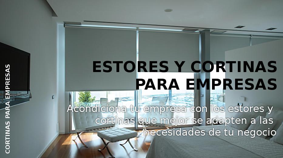 Estores y cortinas para empresas Cortinalux