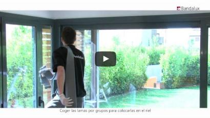 Instalación cortinas verticales